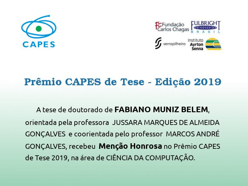 Menção Honrosa no Prêmio Capes de Tese de 2019